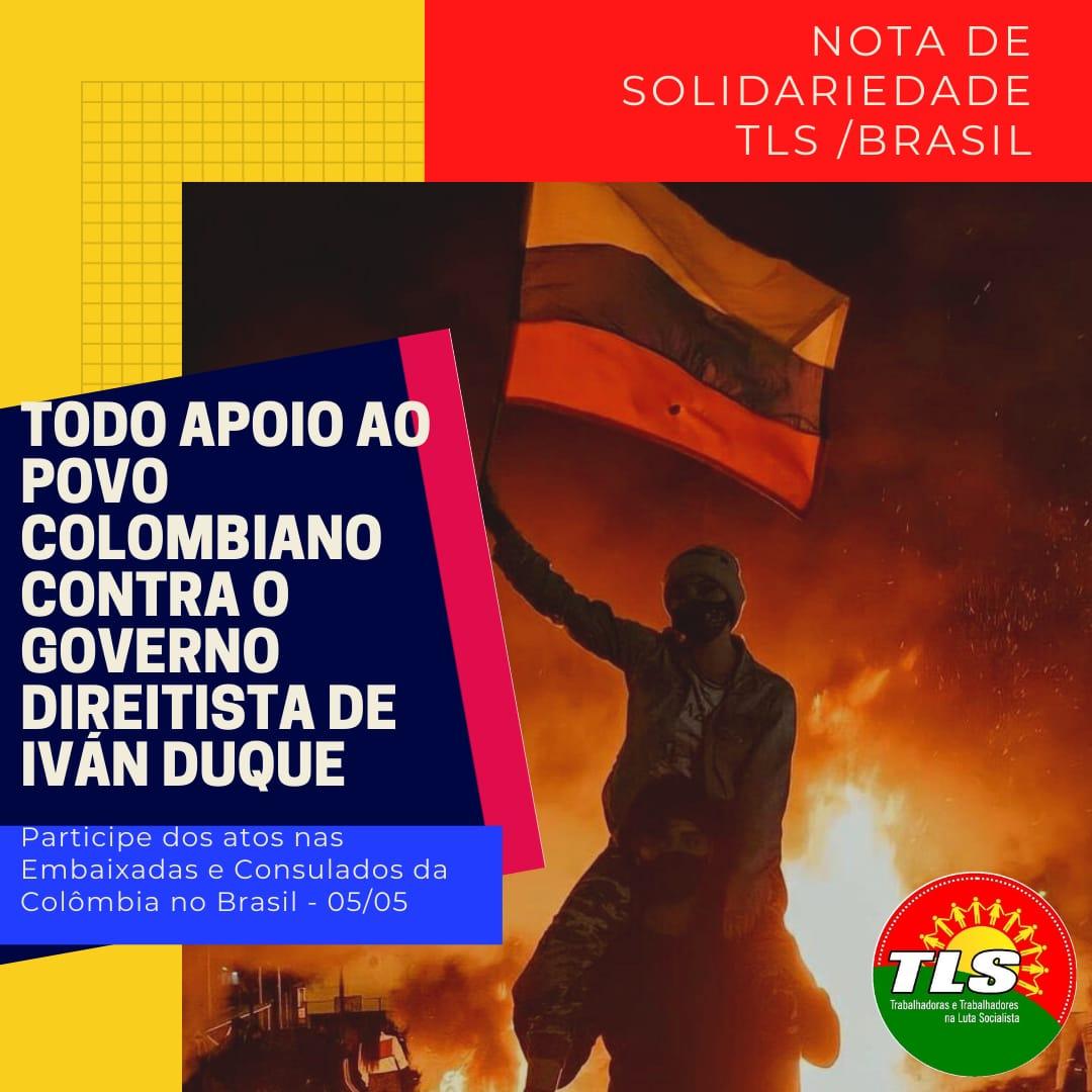 NOSSA SOLIDARIEDADE COM O POVO COLOMBIANO